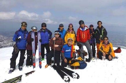 山スキーに必要な装備、初歩の技...