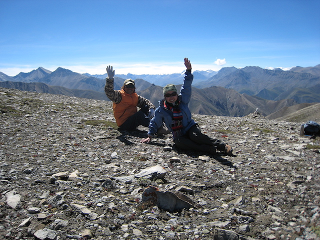 大西 保さんと稲葉 香さん、2017年の西北ネパール登山隊遠征にて