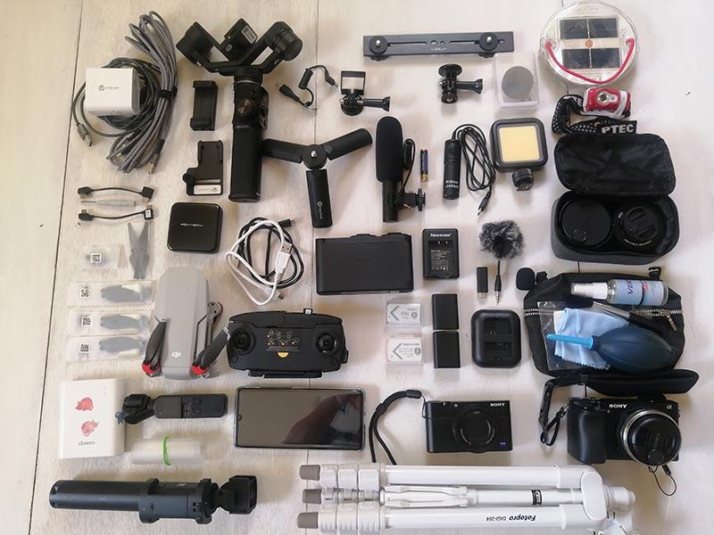 撮影機材などの電子機器
